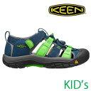 KEEN キッズ サンダル CHILDREN NEWPORT H2(Poseidon/Jasmin Green Multi) [1014246]キーン チルドレン ニューポート ユース □SP 10P18Jun16