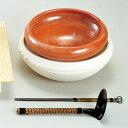 【茶道具 水屋道具】半田ホーロクセット 赤・白組「長火箸・底取付き」