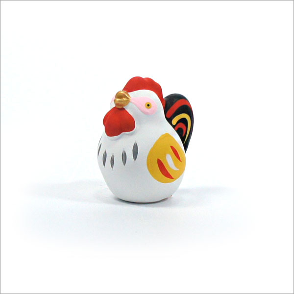 【茶道具 掘り出し物市】陶器製の縁起置物 干支シリーズ 鶏
