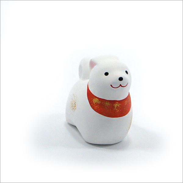 【茶道具 掘り出し物市】陶器製の縁起置物 干支シリーズ 犬