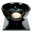【茶道具 風炉・野々田/電熱】電熱風炉 黒 (紅鉢型) 陶製 野々田式