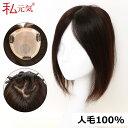 人毛100% 部分ウィッグ 30cm 部分かつら 白髪かくし 男女兼用 私元気 MBHAD131530
