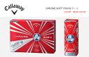 【即納可】キャロウェイ クロム ソフト トゥルービスボールCallaway CHROM SOFT TRUVIS BALL日本仕様【2016年NEW COLOR/BLUE】【限定商品】