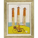 【スマホエントリーでP14倍】ヨーロピアン サム トフト「海辺のサイクリング」 【額絵 インテリア雑貨 エレガント 作家 壁掛け】 イタリア家具 イタリア