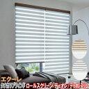 タチカワブラインド製 調光ロールスクリーンデュオレ/エクーレ防炎 単色フレーム/サイズオーダー/全2色