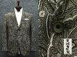 通年物ジャケット [東洲斎写楽] ベージュ×黒 大柄ペイズリー ジャガード [AB体]仕様 ベーシック2釦 メンズ ブランド SKJ04