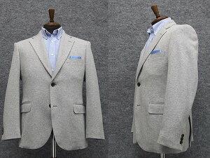 ニット素材 セミスタイリッシュジャケット 薄グレー系 シングル2釦 [AB体] 秋冬物 WE22
