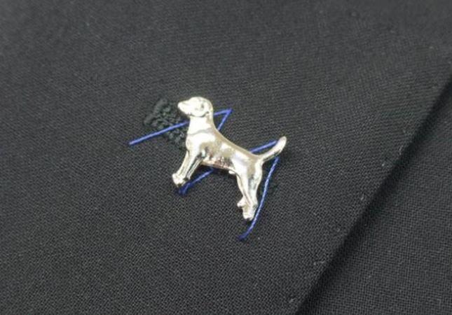 ◆ラペルピン◇犬イヌ◆タイタック兼用 ブローチ メール便可 ACC21-102