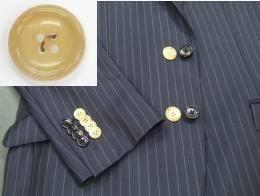 スーツ 本水牛ボタン付け替えボタン代金+工賃「代引き不可」