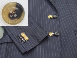 スーツ 本水牛ボタン付け替えボタン代金+工賃「...の紹介画像2