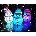 【光る玩具】卓上LEDイルミネーション 雪だるま 3個入り【あす楽対応】