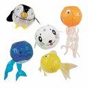 和玩具 変わり紙風船 水族館5種セット (イルカ・ペンギン・アザラシ・タコ・金魚)  【あす楽対応】