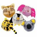 和玩具 変わり紙風船 どうぶつえん5種セット(ゾウ・コアラ・ペンギン・とら・あらいぐま) 【あす楽対応】