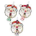 【クリスマス】サンタお面巻取り(25入)【即納商品】