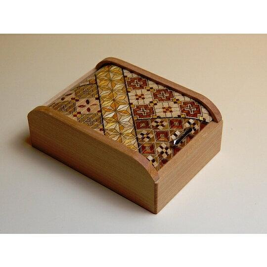 寄木4寸スダレ小物入れ 寄木細工 箱根寄木細工の商品画像