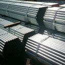 【送料無料】【48.6単管パイプ4m(バタパイプ)】100本セット(先メッキ)東京、神奈川、埼玉、千葉限定販売:建設仮設資材。2.73kg/m規格定番品。厚み(肉厚)=2.4mm,一般構造用炭素鋼鋼管