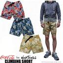WILD THINGS Coca-Cola CLIMBING SHORT 全3色 ワイルドシングス コカ・コーラ柄 ショートパンツ WILDTHINGS 【smtb-td】
