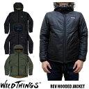 2017-2018新作 WILD THINGS ワイルドシングス REV HOODED JACKET WT17101N 全3色 プリマロフト フードジャケット WILDTHINGS