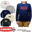 2019新色 CHUMS BOAT LOGO L/S T-SHIRT 全5色 メンズ チャムス ボートロゴ 長袖 Tシャツ CH01-1284