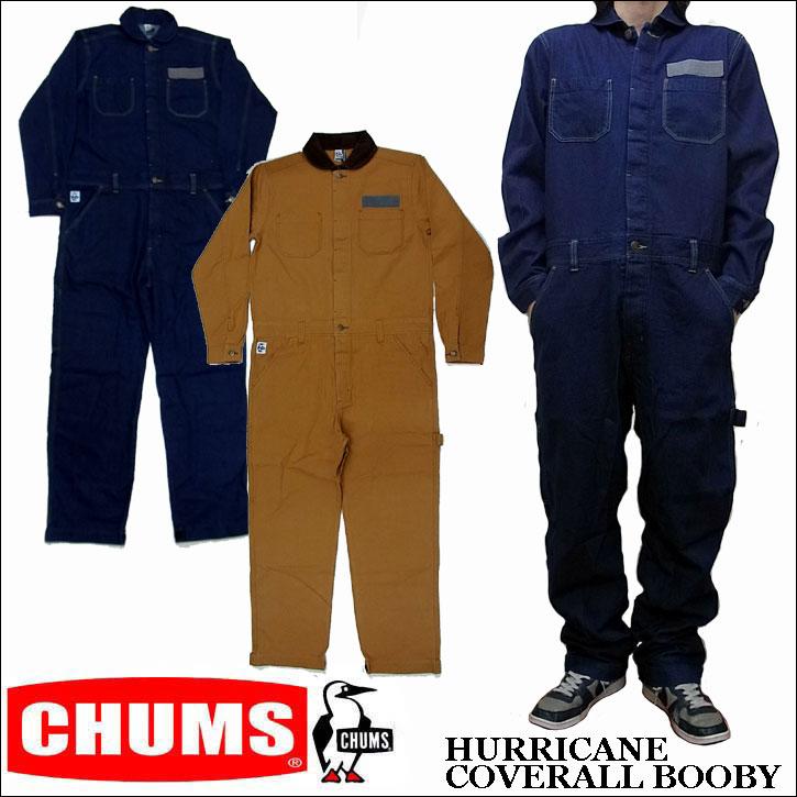 2016秋冬新作 CHUMS HURRICANE COVERALL BOOBY チャムス デニム ダック 長袖 ツナギ オールインワン CH04-1048