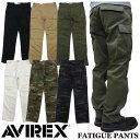 【AVIREX】アビレックス FATIGUE PANTS 全6色 ベーシック カーゴパンツ ファティーグパンツ 6166110 6166111 軍パン ミリタリー