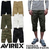 ��AVIREX�ۥ��ӥ�å��� FATIGUE CROPPED PANTS ��6�� �١����å� ������ ����åץɥѥ�� �ե��ƥ������ѥ�� 6166114 6166115 ���ѥ󡡥ߥ꥿�꡼
