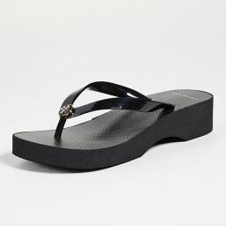 <strong>トリーバーチ</strong> ウェッジソール サンダル ブラック Tory Burch Wedge Thin Flip Flops Black【靴 シューズ ビーチサンダル 厚底サンダル 大きいサイズ】