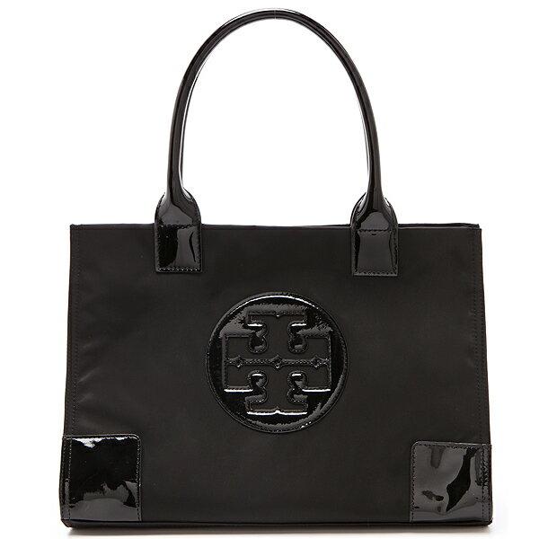 【お取り寄せ】Tory Burch トリーバーチ Nylon Mini Ella Tote ナイロン ミニ エラ トート Black ブラック 【トートバッグ ハンドバッグ 鞄 かばん】