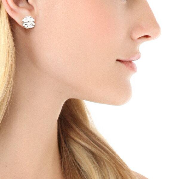 お取り寄せ Tory Burch トリーバーチ Large T Logo Stud Earrings ラージ ティー ロゴ スタッズ