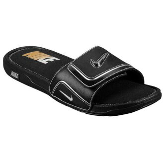 NIKE耐吉涼鞋人舒服放映裝置2 Nike Men's Comfort Slide 2 Black Metallic Silver White[支持便利店領取的商品]