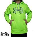 アンダーアーマー メンズ スウェット パーカー ビッグロゴ グリーン 緑 ストーム UNDER ARMOUR Men's Armour Fleece Storm Big Logo Hoodie Hyper Green Stealth