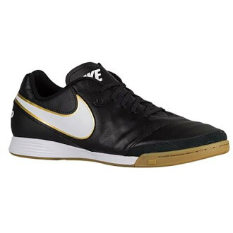 (索取)NIKE naikimenzufuttosarushuzutiempojienio 2皮革ic Nike Men's Tiempo Genio II Leather IC Black White