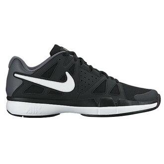 (得到 CDN) NIKE 耐克男士空氣 Vesper 優勢網球鞋,耐克男士空氣蒸汽優勢黑色暗灰色白色 02P05Nov16
