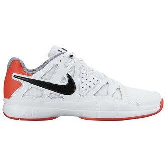 (得到 CDN) NIKE 耐克男士空氣 Vesper 優勢網球鞋,耐克男士空氣蒸汽優勢白色明亮深紅色隱形黑色 02P05Nov16