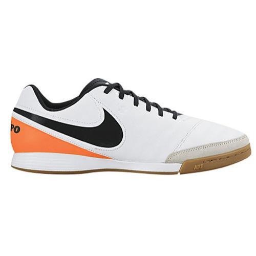 (取寄)NIKE ナイキ メンズ フットサルシューズ ティエンポ ジェニオ 2 レザー ic Nike Men's Tiempo Genio II Leather IC White Total Orange Black 【コンビニ受取対応商品】