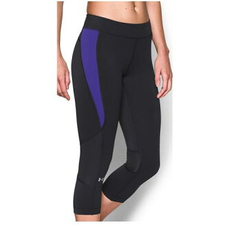 (索取)andaamaredisu HG amakuroppu Under Armour Women's HG Armour Crop Black Deep Orchid[支持便利店領取的商品]