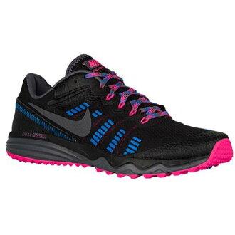 (得到 CDN) NIKE 耐克婦女雙融合落後 2 運動鞋鞋耐克婦女的雙重融合小道 2 黑粉紅色爆炸照片藍色深灰色 [便利商店接收產品 02P03Dec16