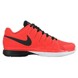 (得到 CDN) NIKE 耐克男士放大 Vesper 9.5 旅遊網球鞋費德勒耐克男放大蒸氣 9.5 旅遊總深紅色暗灰色黑色 [便利商店接收產品 02P03Dec16