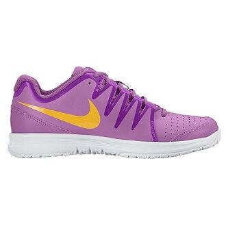(得到 CDN) NIKE 耐克婦女空谷法院網球鞋,耐克婦女蒸氣法院紫中提琴超白色鐳射橙色 02P05Nov16