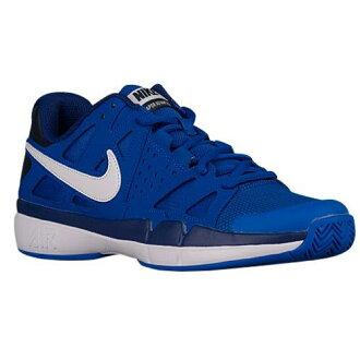 (得到 CDN) NIKE 耐克男士空氣 Vesper 優勢網球鞋,耐克男士空氣蒸汽優勢超鈷深皇家藍黑曜石白色 02P05Nov16