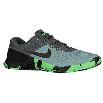 (得到 CDN) NIKE 耐克男子的滿足 2 運動鞋鞋耐克騙子的梅特康 2 加農炮黑憤怒綠色深灰色 02P05Nov16