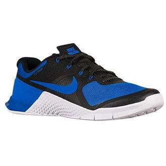 (得到 CDN) NIKE 耐克男子的滿足 2 運動鞋鞋耐克騙子的梅特康 2 黑黑皇家藍白色 02P01Oct16