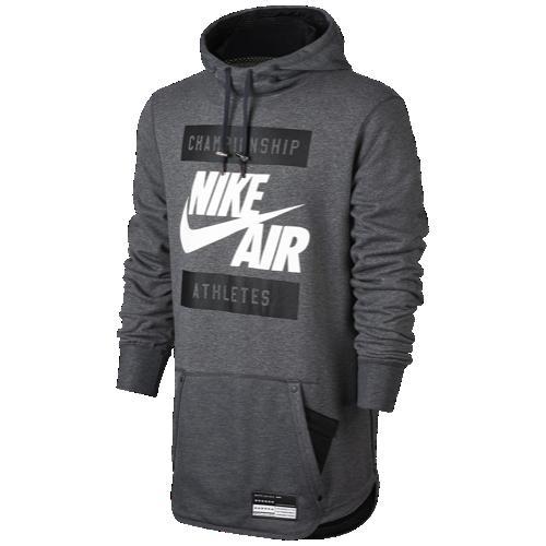 (取寄)ナイキ メンズ パーカー エア フーディ Nike Men's Air Hoodie Charcoal Heather Black 【コンビニ受取対応商品】