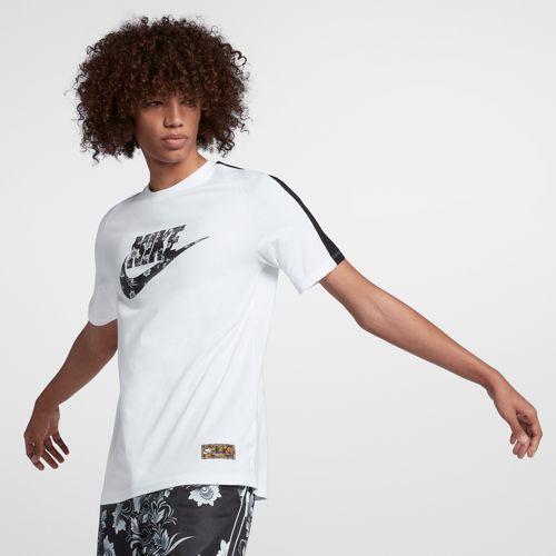 NIKE ナイキ メンズ Tシャツ ロシアン フローラル フューチュラ 花柄 ロゴTシャツ ホワイト Nike Men's Russian Floral Futura T-Shirt White