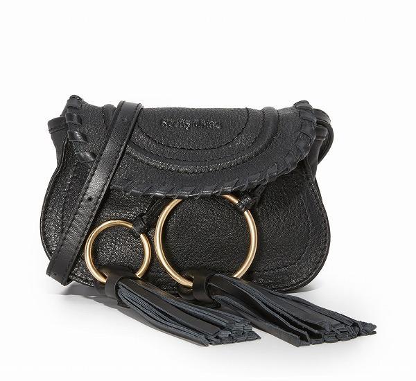 (取寄)シーバイ クロエ レディース ポリー ミニ バッグ See by Chloe Women Polly Mini Bag Black 【コンビニ受取対応商品】