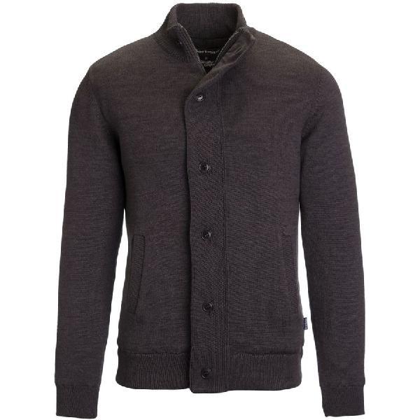 (取寄)バブアー メンズ ファルコナー ボタン スルー セーター Barbour Men's Falconer Button Through Sweater Storm Grey 【コンビニ受取対応商品】