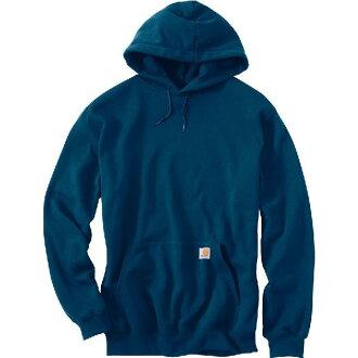 (得到 CDN) 卡哈特男式中等重量套衫連帽運動衫連帽衫哈特 Midweight 套衫連帽男裝運動衫連帽衫高級藍色