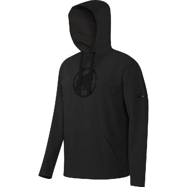 (取寄)マムート メンズ ロゴ ML プルオーバー パーカー Mammut Men's Logo ML Hoodie Pullover Graphite Melange/Black 【コンビニ受取対応商品】