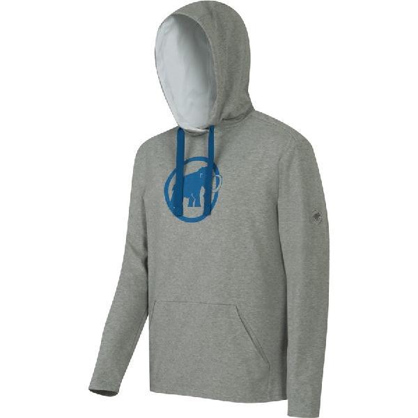 (取寄)マムート メンズ ロゴ ML プルオーバー パーカー Mammut Men's Logo ML Hoodie Pullover Granit Melange/Dark Cyan 【コンビニ受取対応商品】