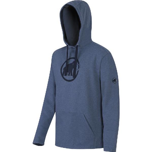 (取寄)マムート メンズ ロゴ ML プルオーバー パーカー Mammut Men's Logo ML Hoodie Pullover Marine Melange/Marine 【コンビニ受取対応商品】